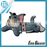 cute novelty animal usb flash drive,high power capacity portable pocket usb rubber pen drive
