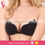 Custom Low Price Enhancement Backless Invisible Strapless Body Soft Breast Bra