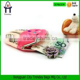 Ice cream shaped pink coin purse small Christmas gifts bag clutch handbag
