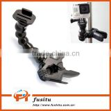 Jaws Flex Clamp Mount + Adjustable Neck with Mount & Screw For Gopro Hero 4/3+/3/2