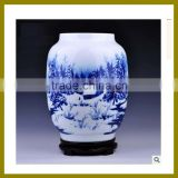 Elegant Fine New Bone China antique chinese porcelain blue and white vase for hotel decor