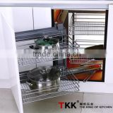 REPON Slide Chrome Basket Kitchen Wire Corner Shelf
