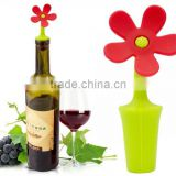 cartoon cute flower head shape silicone wine bottle stopper                                                                         Quality Choice