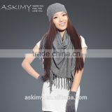 2015 wholesale knitted scarf beanie and glove set
