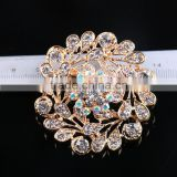 Fashion Color Rhinestone Flower Brooch Pins,AB Rhinestone Brooch For Wedding Invitation
