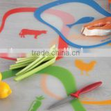 meat and vegetable abrasion resistance flexible durable multifunctional pp 4pcs plastic cutting board set