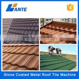 High quality aluminum zinc plate colorful stone coated metal roof tile machine, wholesale corrugated metal roofing sheet