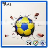 Christmas Gifts cartoon football soccer ball children gift led wall lamp 3D stick bedroom light party supplies