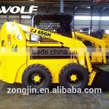 Best sale ! NO.1 brand new skid steer loader ZJ65 with snow blower, skid steer                                                                         Quality Choice