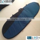 Durable 600D polyester foam padding long board surfboard bag with Wax/fin pocket