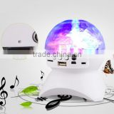 high quality sound crystal ball mini wireless bluetooth speaker with colorful led light tf fm radio stereo subwoofer