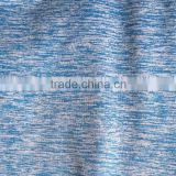 polyester spandex blue and white slub effect knit Cation jersey fabric for sportswear and casual wear