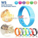 W5 USB Multi-functional Wrist Smart Bracelet With G-sensor Pedometer Data Memory Sleep Monitor Black
