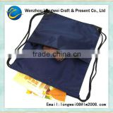 dark blue backpack drawstring ball foldable shopping bag