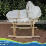 hand made cradle baby moses basket / moses basket set /maize basket/ bassinet,/ corn basket /with rocking stand BB005