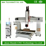 5 axis woodwork cnc machine HS1224 5 axis engraving mould cnc router wood shaper cnc machining center