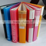 Fashion cheap A4 plastic display book/clear book with label for office