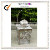 Gifts & Decor Large Contemporary Metal Hanging Candle Holder Lantern, Pillar Candle Holder