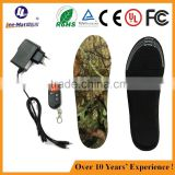 JS002A China factory EVA and soft recycle foam material remotrol battery powered heating shoe insole