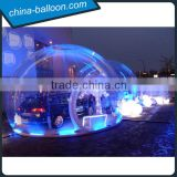 Romantic inflatable clear bubble tent with LED/Transparent lighting tent for advertising activities