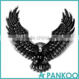 2016 Ambitious Flying Eagle Open Wings Stainless Steel Punk Style Men Chain Necklace Pendant