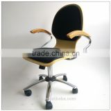 TDC-129-2QVB HANGZHOU JIANDE TONGDA FIVE STAR BASE BENTWOOD SWIVEL CHAIR FOR OFFICE OFFCI CHAIR
