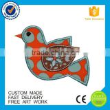 Applique products cheap kids embroidered custom birds patch