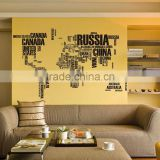 Kids letter decal DIY world map wall stickers