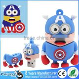 High Quality Popular Cartoon Super Heroes Series Usb Flash Drive Custom Pendrive,Wholesale Full Capacity Minions Memory Stick