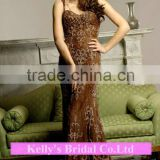 lace & beading spaghetti strap dress for mother of the bride