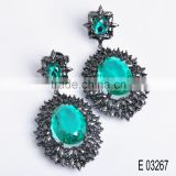 Fashion luxury AAA grade jewelry wholesale price glass earrings for women