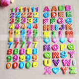 Self adhesive number puffy foam letter stickers