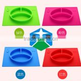 Plate Baby Mats Silicone Integrated Tray Grid Infant Plate Supplementary Food Trays