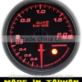 52mm LED turbo boost gauge/ smoke Lens with warning/pressure sensor included