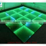 3D Touched Mirror Tempered Glass Surface Board Light Up Dance Floor With 60pcs 5050 smd led