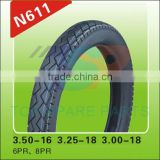 color Motorcycle Tire and Tyre 3.50-16/3.25-18/3.00-18 8PR/6PR