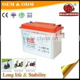 Lead acid battery 12v 110ah electric tricycle battery with tubular positive plate