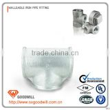 galvanized malleable iron equal diameter tee water pipe joint plumbing pipe fitting