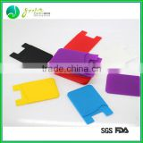 Wholesale mobile phone silicone adhesive sticker card holder cell phone case card holder