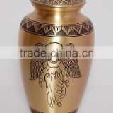 angel design brass metal antique urns