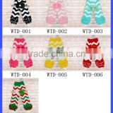 New Arrivals! Ruffled Chevron stylish Leg Warmers Match with Pretty Headband Stylish Infant Knee Pad 7 Color Available