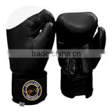 BOXING GLOVES MADE OF FINE QUALITY COWHIDE LEATHER FILLED WITH MACHINE MOLD FOAM BLACK SIZE 8 OZ TO 18 OZ