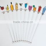 clear plastic swizzle stick,custom bar cocktail swizzle stick,fancy party decorative plastic stirrer,swizzle stick manufacturers
