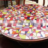 Roundtable waterproof cloth table mats pvc soft glass Taiwan arming oil anti-hot round plastic tablecloths