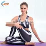 HSZ-YD46002 Professional Factory Manufacturer Brand Name Printed Tights Leggings Women's Yoga Tank Top Sports Clothes Wholesale