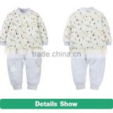 100% cotton spring and winter full sleeve children clothing set wholesale adult baby wear