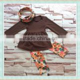new thanksgiving girls boutique outfit remakes kids boutique scarf outfits brown tunic dress top and floral legging pants set