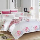 Newest colored cotton embroidery quilt pillow bumper mattress baby crib bedding sets