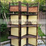 Outdoor folding screen cheap movable foldable living bamboo portable garden screens room dividers Decorative Bamboo ScreenGVHH10