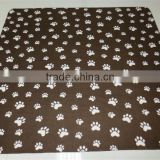 Wholsale Printed Paws cheap polar blanket for pets